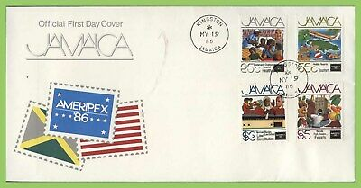 Jamaica 1986 Ameripex Exhibition set on First Day Cover