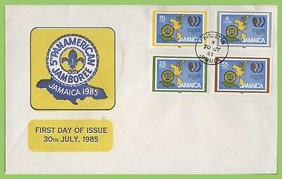 Jamaica 1985 5th Pan-American Scout Jamboree set on First Day Cover