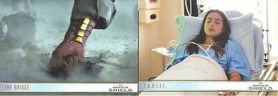 Agents Of S.H.I.E.L.D. 31 & 43 MATCHING NUMBER Gold Parallel Cards 048/100 RARE!