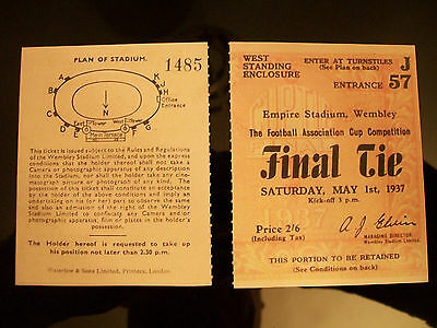 1937 F.A. Cup Final Ticket Preston North End v Sunderland Mint condition