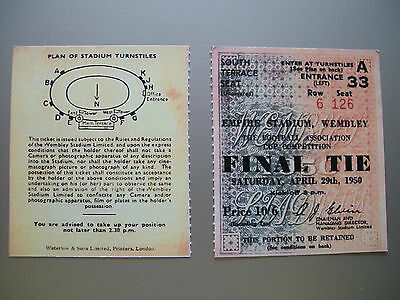 1950 F.A. Cup Final Ticket Arsenal v Liverpool Mint condition