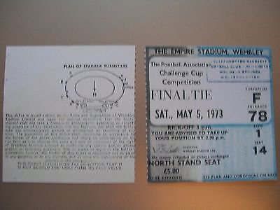 1973 F.A. Cup Final Ticket Leeds United v Sunderland mint condition.