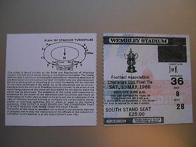 1986 F.A. Cup Final Ticket Everton v Liverpool mint condition.