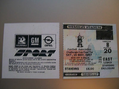1987 F.A. Cup Final Ticket Tottenham Hotspur v Coventry City mint condition.