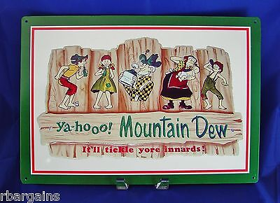 Mountain Dew Yahoo Hillbillies Metal Tin Sign Vintage Decor Wall Garage Pub Bar