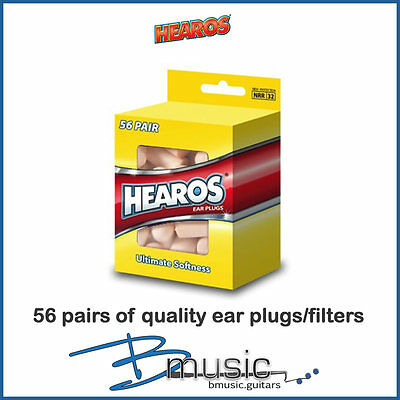 Hearos Ultimate Softness Earplugs - 56 Pairs - Made in the U.S.A.