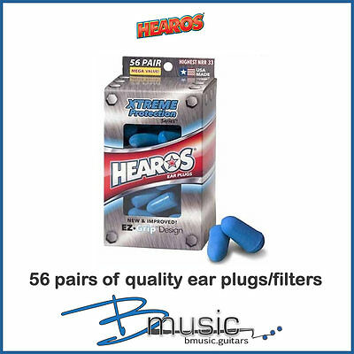 Hearos Xtreme Protection Earplugs - 56 Pairs - Made in the U.S.A.