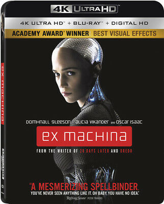 Ex Machina [New 4K UHD Blu-ray] With Blu-Ray, 4K Mastering, Ac-3/Dolby Digital