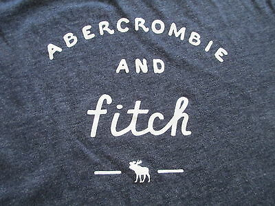 Abercrombie & Fitch Kids Boys Girls Navy Blue White T Shirt Size L Large 12/14