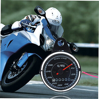 Double Color LED Light Universal Odometer Speedometer Meter For Motorcycle HT