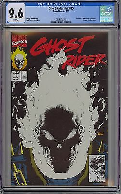 Ghost Rider #v2 #15 CGC 9.6 NM+ Wp Glow-in-the-Dark Cover Marvel Comics 1991 Tex