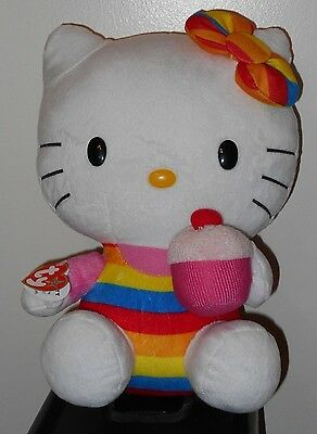 """Ty Beanie Buddy ~ HELLO KITTY 11"""" Holding a Cupcake Plush ~ NM with MINT Tags"""