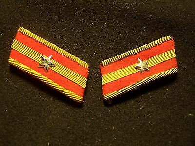 One Original Pair Wwii Imperial Japanese  Patch Rate Rank Insignia Tab