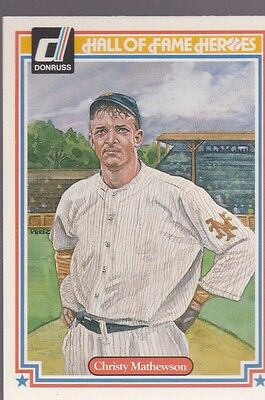 1983 Donruss Hall Of Fame Heroes Christy Mathewson #3 Giants Nmmt/Mint *53167