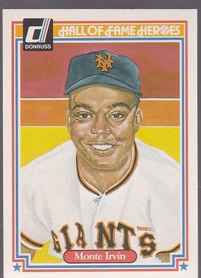 1983 Donruss Hall Of Fame Heroes Monte Irvin #15 Giants Nmmt/Mint *53177