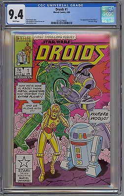 Droids #1 CGC 9.4 NM Wp Marvel Comics 1986 Classic John Romita Star Wars R2-D2