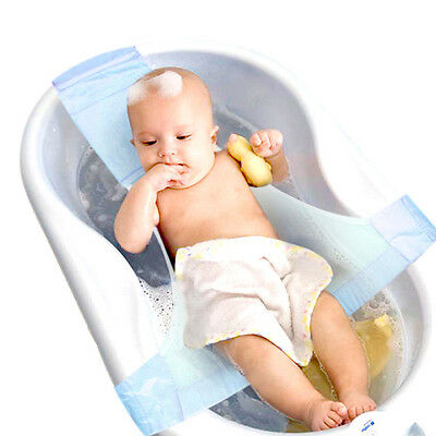 Infant Newborn Baby Bath Adjustable Support For Bathtub Seat Sling Mesh Net Home