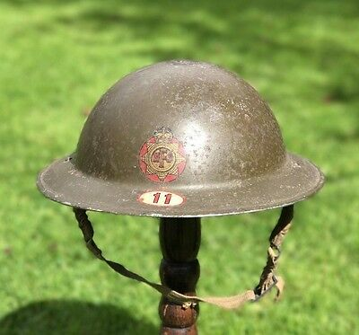 Ww2 Nfs Steel Helmet + Liner & Strap, Area 11, Southend.1939 Original.
