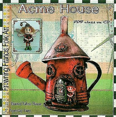 """*new* """"acme House"""" Pdf Class/pattern Tutorial On Cd By Susan Barmore"""