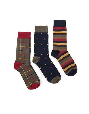 Barbour Mens Classic Tartan Collection Socks Gift Boxed Medium / Standard