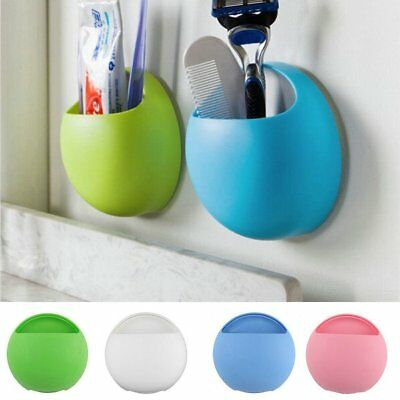 Toothpaste Storage Rack Toothbrush Holder Wall Mounted Stand Suction Cup
