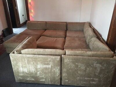 milo baughman 8 Piece Sectional Sofa Couch Vintage Mid Century Modern