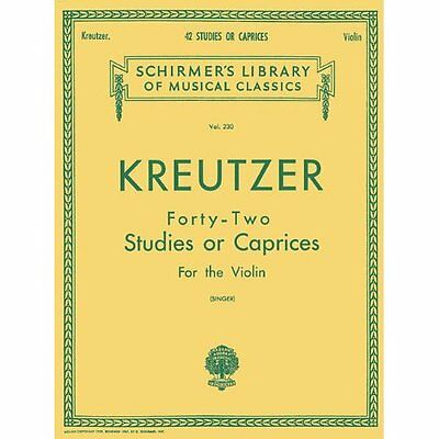 42 Studies or Caprices: Violin Method Kreutzer, Rudolphe (Composer)/ Singer, E.
