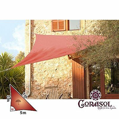 Corasol - COR11Voile d'ombrage [COR11RA5-RR] [Rouge] [5 x 5 x 7 m] NEUF
