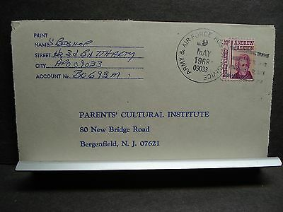APO 09033 SCHWEINFURT, GERMANY Army Cover 1968 3rd MISSILE Bn, 7th Arty