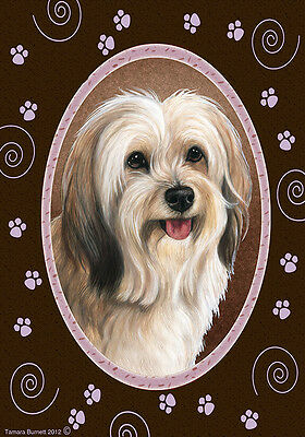 Large Indoor/Outdoor Paws Flag - Fawn Tibetan Terrier 17479