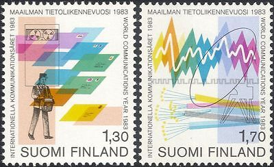 Finland 1983 Postman/Computer/Letters/Radio Dish/Communications 2v set (n19580p)