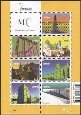 Portugal 2007 Buildings/Architecture/Castles/Fort/Temple/Heritage 7v sht (b750r)