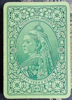 ANTIQUE PLAYING CARDS - Queen Victoria Sixty Years Reign   Bezique deck  c.1897