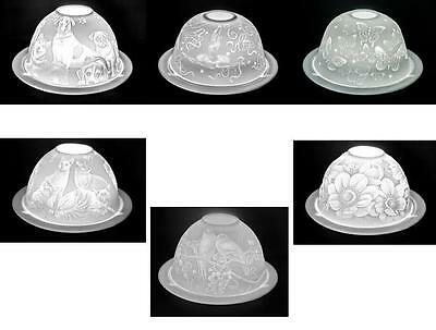 Benaya Porcelain Dome and Plate Holder Various Designs + FREE YANKEE TEA LIGHT