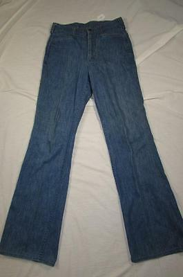 Vtg USA Made 70s Lee Bell Bottom Flare Leg Faded Denim Jeans Measure 29x32.5
