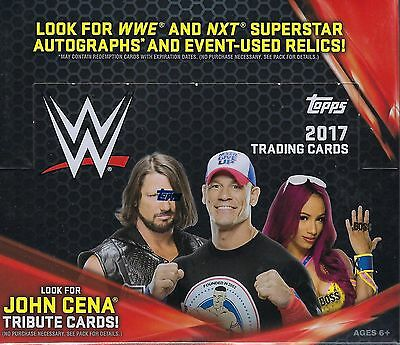2017 Topps WWE Wrestling New Trading Cards 24pk Display Box = 168 Cards
