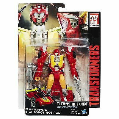 Transformers Titans Return Hot Rod & Fire Drive Action Figure NEW