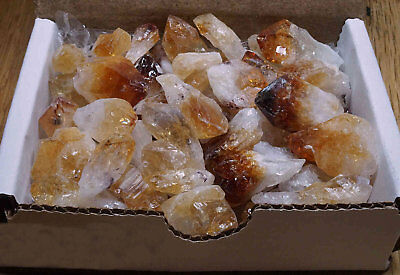 Citrine Points Collection 1/2 Lb Gold Yellow Geode Crystals