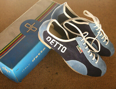 Vintage 1970's NOS NEW Detto Pietro DP suede cycling touring shoes sneakers 40