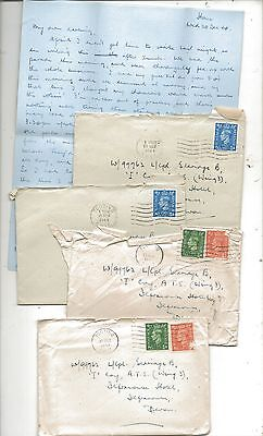 WW2 Superb ATS - Auxiliary Territorial Service Letters Ilfracombe Devon 1944