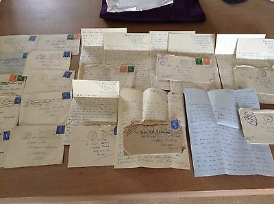 WW2 Wiltshire Devon etc Letters Covers Censored Mail 1944-45