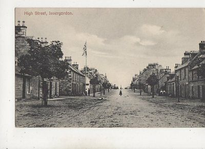High Street Invergordon Ross Scotland Vintage Postcard 621b