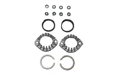 Harley Sportster And Big Twin  Chrome Finned Exhaust Flange Kit Set 300857