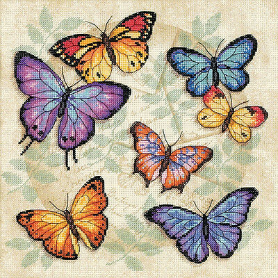"""""""Butterfly Profusion Counted Cross Stitch Kit-11""""""""X11"""""""" 14 Count"""""""