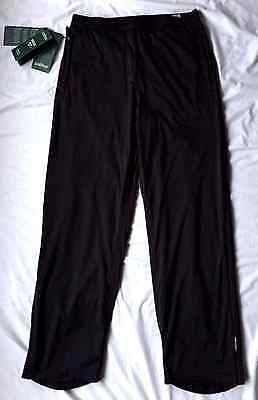 Ladies Black Chervo Golf Trousers Size 14 Wind/Waterproof NEW