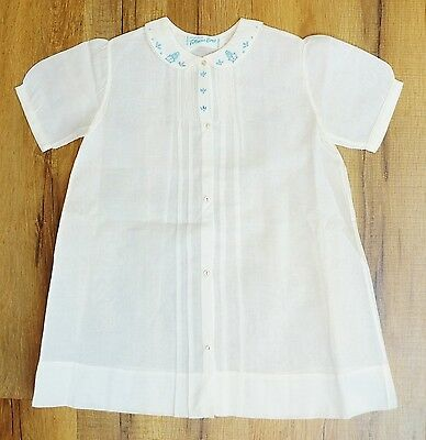 Vintage Feltman Bros Boys Sz 9 Mo Pintucked Embroidered  Gown for special Occass
