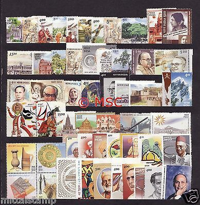 India 2002 Complete Year Collector Set Of 54 Stamps Mnh Good Condition