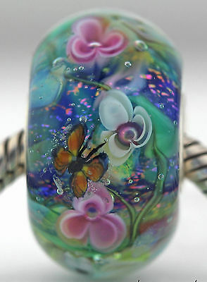 MONET'S WATER LILIES FOCAL Mandy Ramsdell charm bead lampwork murano glass