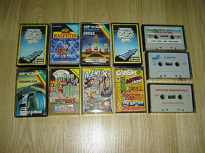 JOBLOT OF 11x SINCLAIR ZX SPECTRUM 48K / 128K COMPUTER GAME CASSETTES