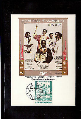 Vatican 1965 Maximum Card, Scott #404, Canonization Of 22 African Martyrs !!
